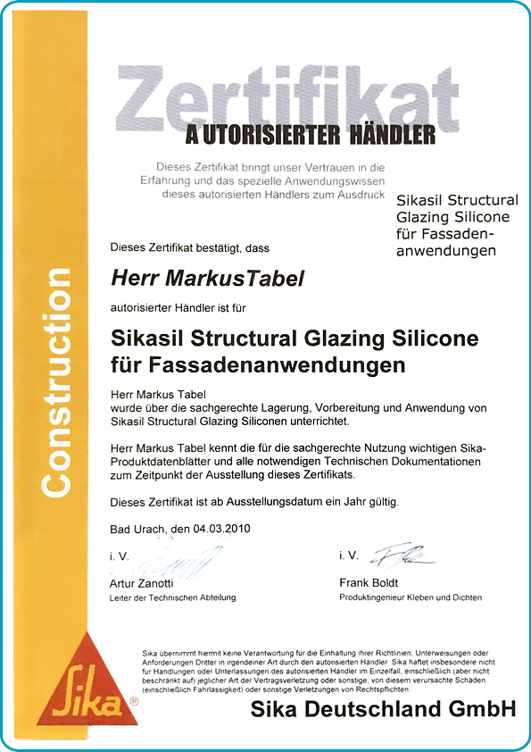 tabema-klebstoffe-dichtstoffe-zertifikat-sikasil-fassadenanwendungen-markus-tabel